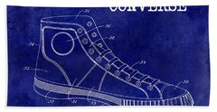 1934 Converse Shoe Patent Drawing Blue Hand Towel