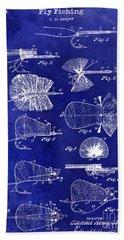 1934 Fly Fishing Lures  Bath Towel