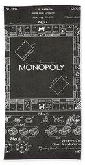 Monopoly Board Game Bath Towels