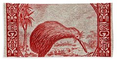 1936 New Zealand Kiwi Stamp Bath Towel