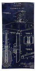 1937 Fishing Knife Patent Blue Bath Towel