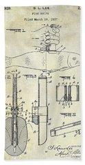1937 Fishing Knife Patent Bath Towel