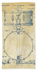 1939 Snare Drum Patent Vintage Hand Towel by Nikki Marie Smith