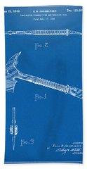 1940 Firemans Axe Artwork Blueprint Hand Towel