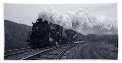 1940s 1950s Speeding Steam Locomotive Bath Towel
