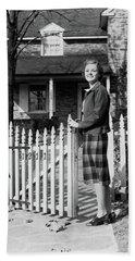 1940s Smiling Pretty Young Teenage Girl Bath Towel