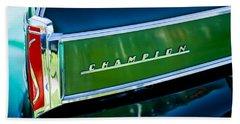 1941 Sudebaker Champion Coupe Emblem Bath Towel