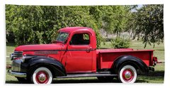 1946 Chevy Pickup Bath Towel by E Faithe Lester
