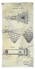 1947 Fishing Net Patent  Bath Towel