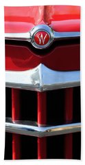 1950 Willys Overland Jeepster Hood Emblem Bath Towel