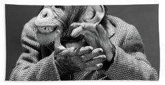 1950s 1960s Monkey Chimp Chimpanzee Hand Towel