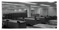 1950s 1960s Office With Desks Black Bath Towel