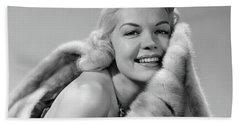 1950s Glamorous Woman Posing Wearing Bath Towel