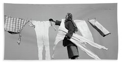 1950s Housewife Removing Frozen Long Hand Towel