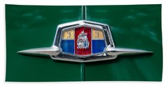 1951 Plymouth Suburban Emblem Bath Towel