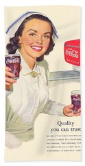 1952 - Coca-cola Advertisement - Color Hand Towel