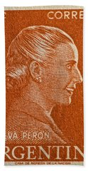 1952 Eva Peron Argentina Stamp Bath Towel