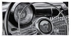 1953 Buick Super Dashboard And Steering Wheel Bw Bath Towel