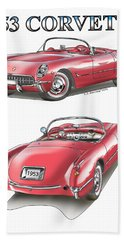 1953 Corvette Bath Towel