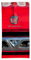 1953 Ford F-100 Fordomatic Pickup Truck Grille Emblems -0108c Bath Towel