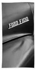 1953 Ford F-100 Pickup Truck Emblem Bath Towel