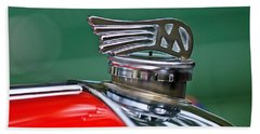 1953 Morgan Plus 4 Le Mans Tt Special Hood Ornament Bath Towel