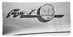 1955 Ford F-100 Pickup Truck -0453bw Bath Towel