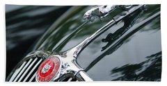 Jaguar Xk 150 Hood Ornament  Bath Towel