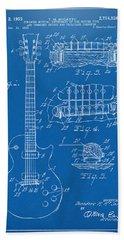 1955 Mccarty Gibson Les Paul Guitar Patent Artwork Blueprint Bath Towel