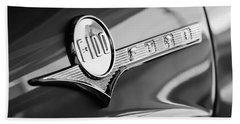 1956 Ford F-100 Pickup Truck Emblem Bath Towel