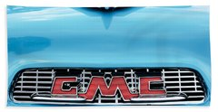 1956 Gmc 100 Deluxe Edition Pickup Truck Hood Ornament - Grille Emblem Bath Towel