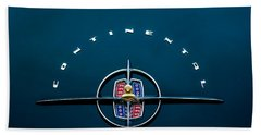 1956 Lincoln Continental Mark II Coupe Emblem Bath Towel