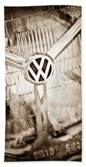 1956 Volkswagen Vw Headlight Emblem Hand Towel