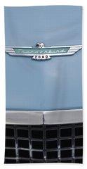 1957 Ford Thunderbird Hood Ornament 2 Bath Towel
