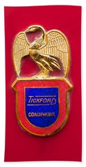 1958 Aston Martin Db Mark IIi Tickford Coupe' Emblem Hand Towel