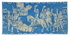 1958 Battle Of Fort Duquesne Stamp Bath Towel