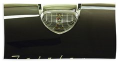 1958 Ford Fairlane 500 Victoria Hood Ornament Hand Towel