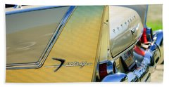 1958 Plymouth Fury Golden Commando Taillight Emblem -3447c Hand Towel