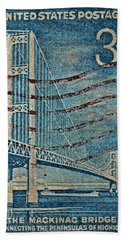 1958 The Mighty Mac Stamp Bath Towel