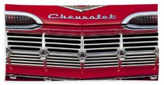 1959 Chevrolet Grille Ornament Bath Towel
