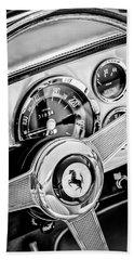 1960 Ferrari 250 Gt Cabriolet Pininfarina Series II Steering Wheel Emblem -1319bw Bath Towel