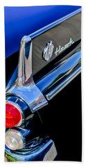 1960 Studebaker Hawk Coupe Taillights And Emblem Bath Towel