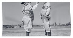 1960s Boy Little Leaguer Pitcher Hand Towel