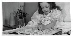 1960s Little Girl Patient In Hospital Hand Towel