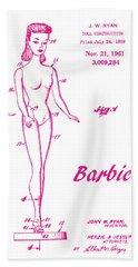 1961 Barbie Doll Patent Art 3 Hand Towel