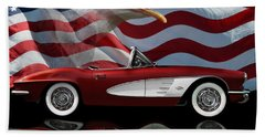 1961 Corvette Tribute Hand Towel