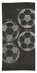 1964 Soccerball Patent Artwork - Gray Hand Towel by Nikki Marie Smith
