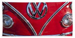 1964 Volkswagen Vw Double Cab Emblem Bath Towel