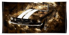 1965 Ford Shelby Mustang Gto-350 #5 Hand Towel
