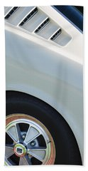 Bath Towel featuring the photograph 1965 Shelby Mustang Gt350 Wheel Emblem by Jill Reger